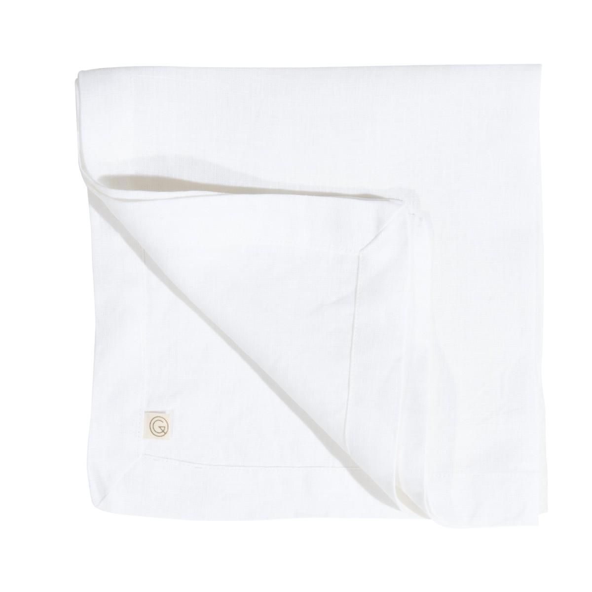 Serviette en lin lavé blanc 45x45