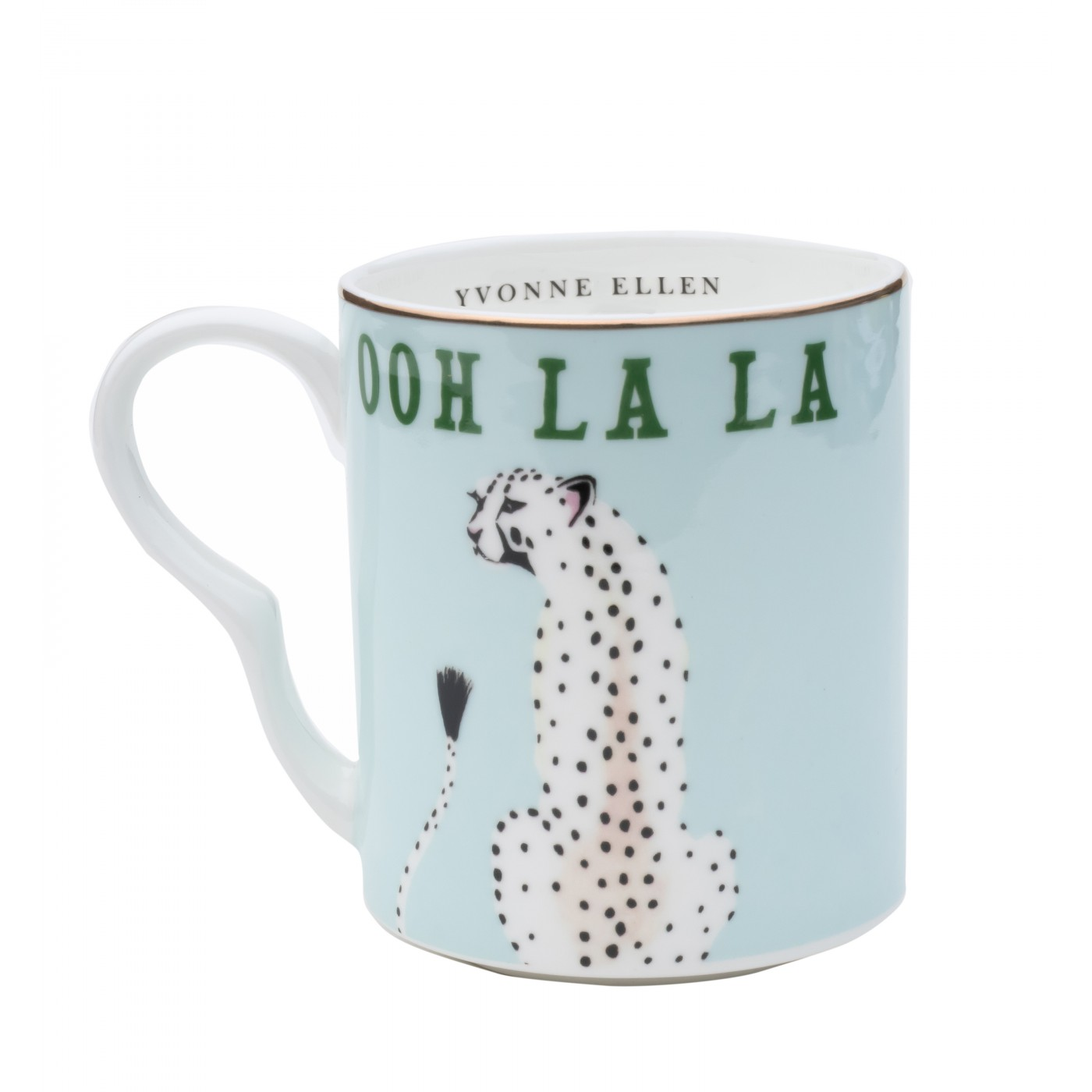 Petit mug en porcelaine guépard 25cl