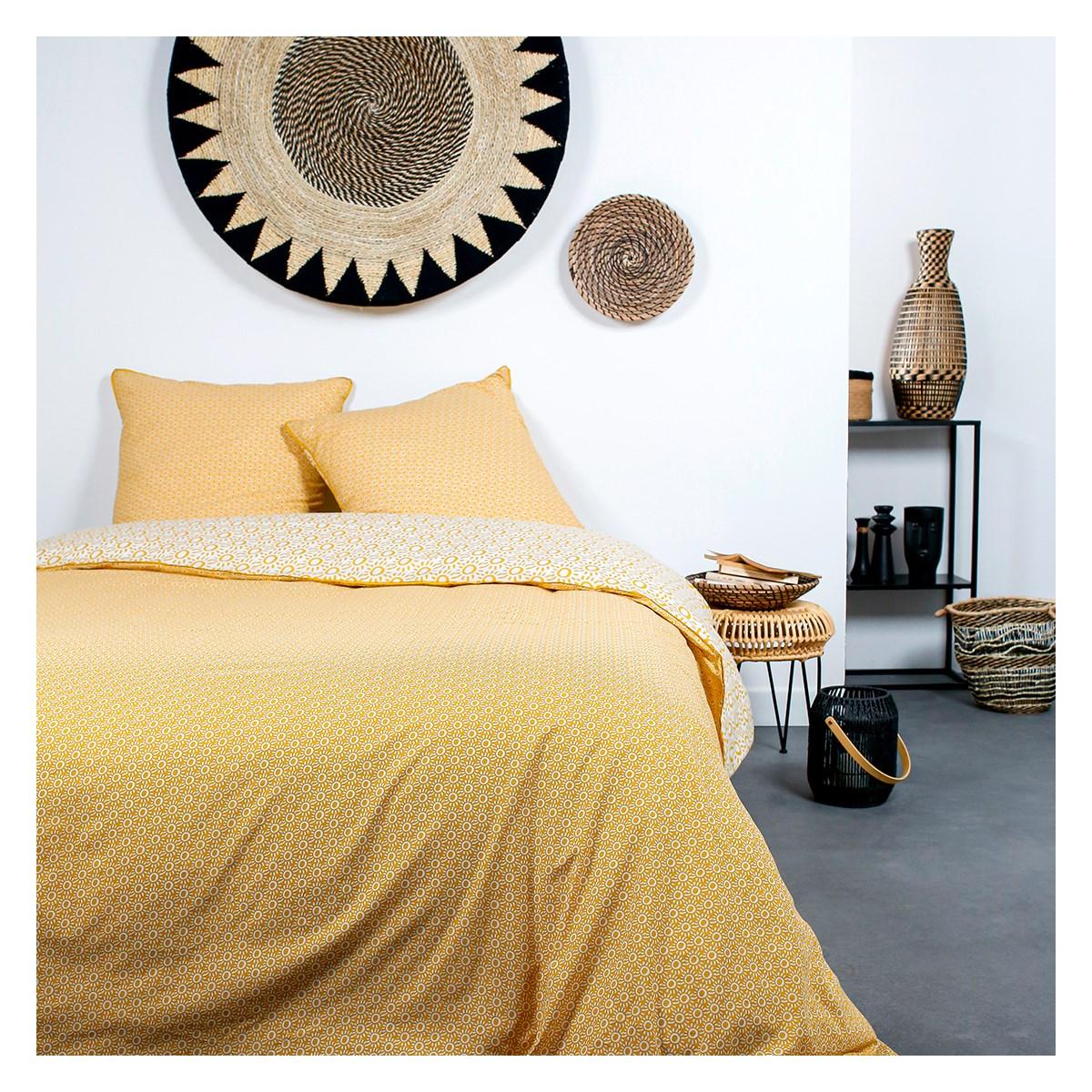 Parure de lit 2 personnes en Coton Multicolore 220x240 cm