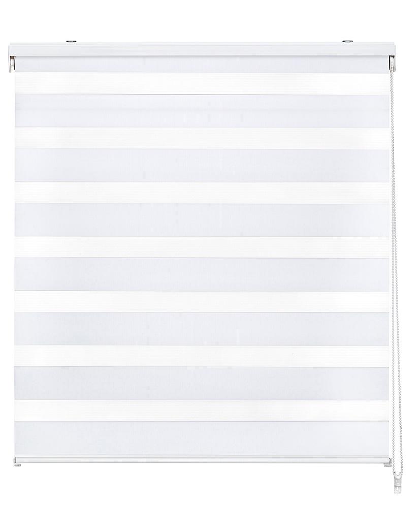 Store enrouleur jour et nuit - Blanc - 120 x 250 cm