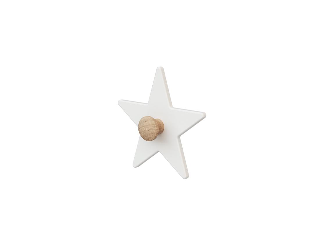 Patère en bois étoile