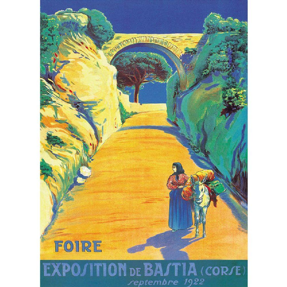Affiche ancienne de Corse 50x70cm