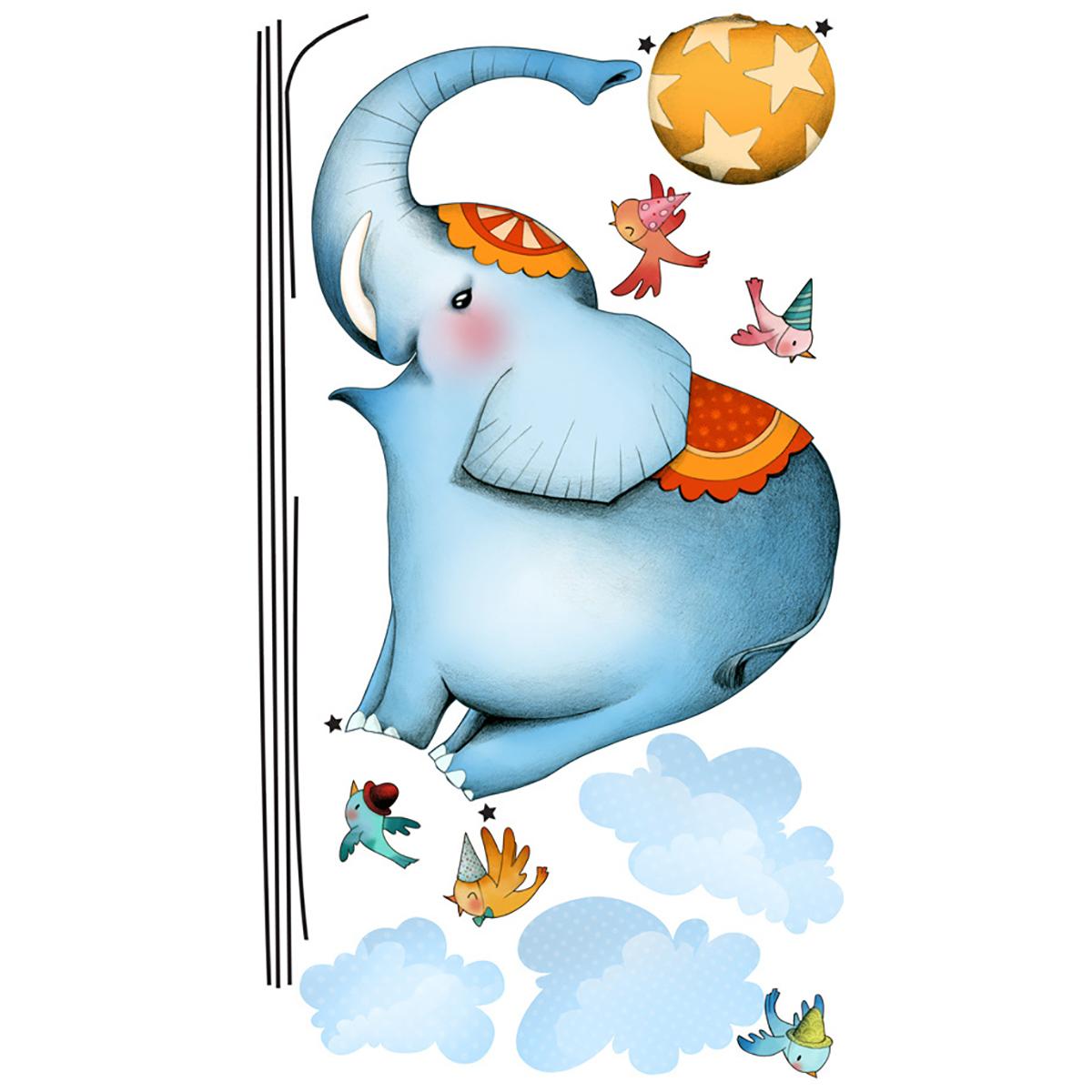 Stickers éléphant funambule 60x110cm