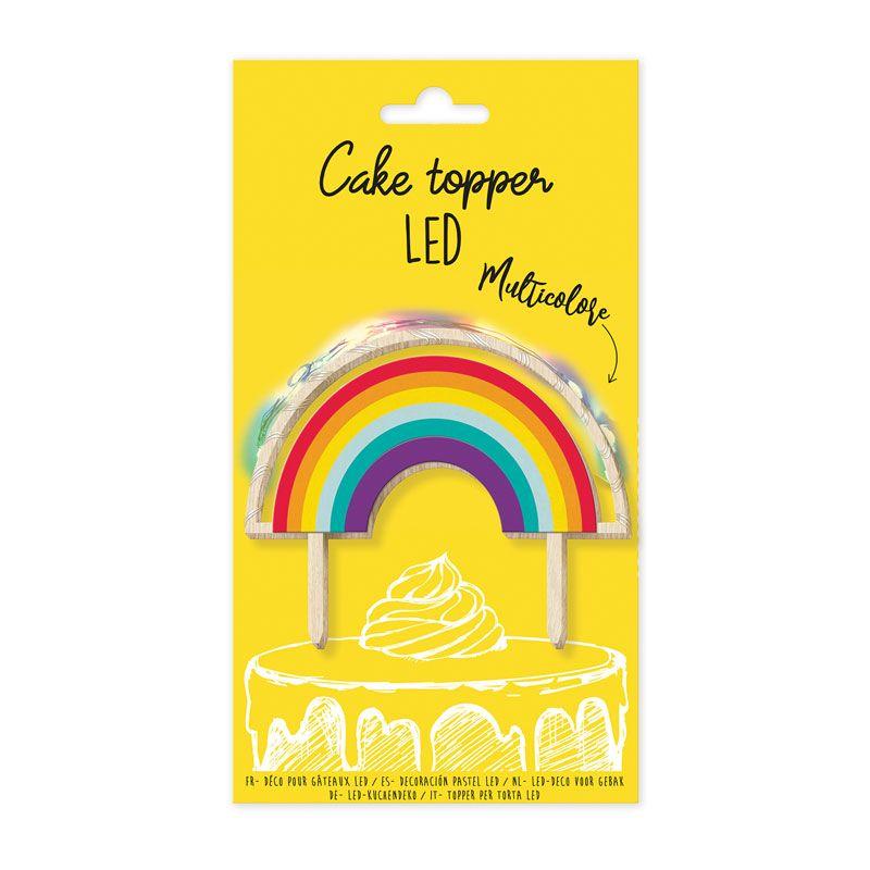 Cake topper LED arc-en-ciel