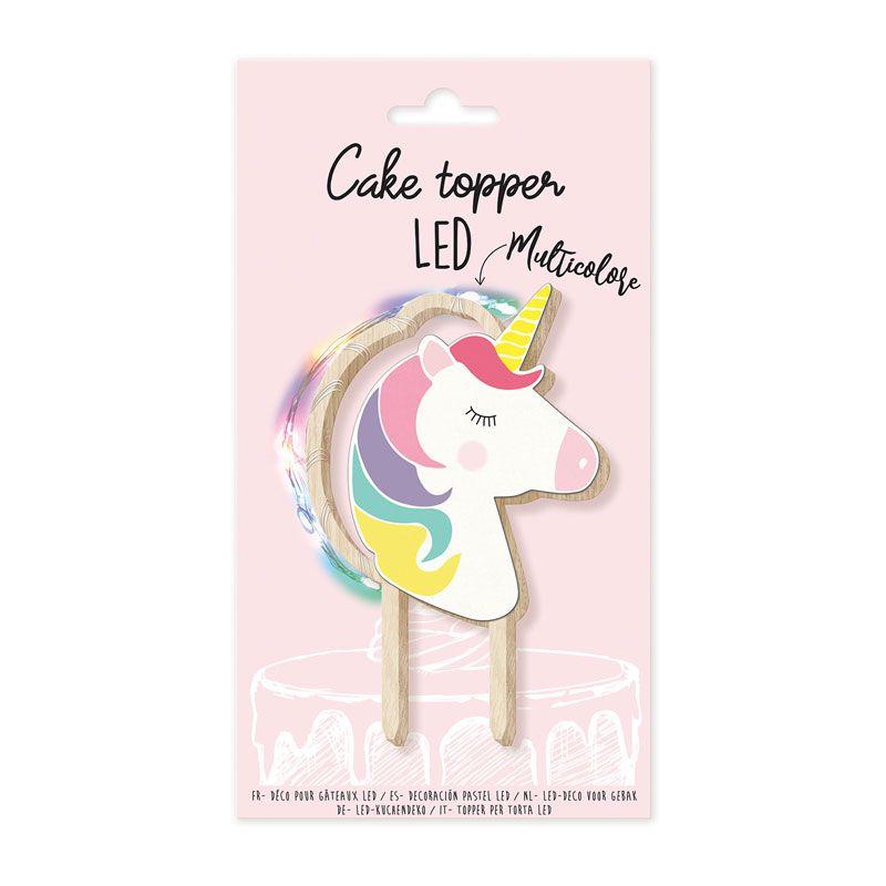 Cake topper LED licorne