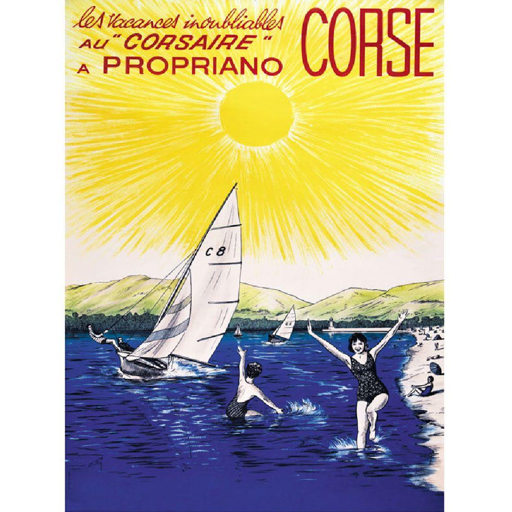 Affiche ancienne Propriano 50x70cm