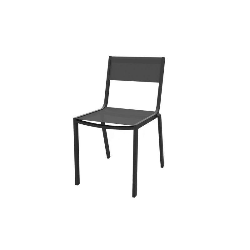 Chaise de jardin aluminium et textilène