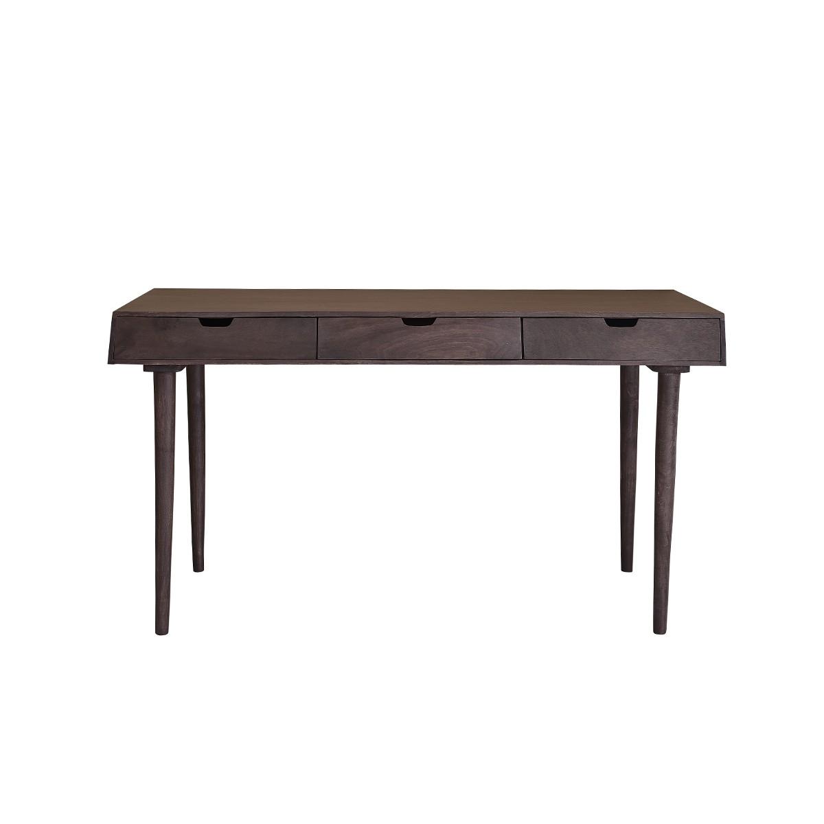 Bureau 3 tiroirs en bois de manguier