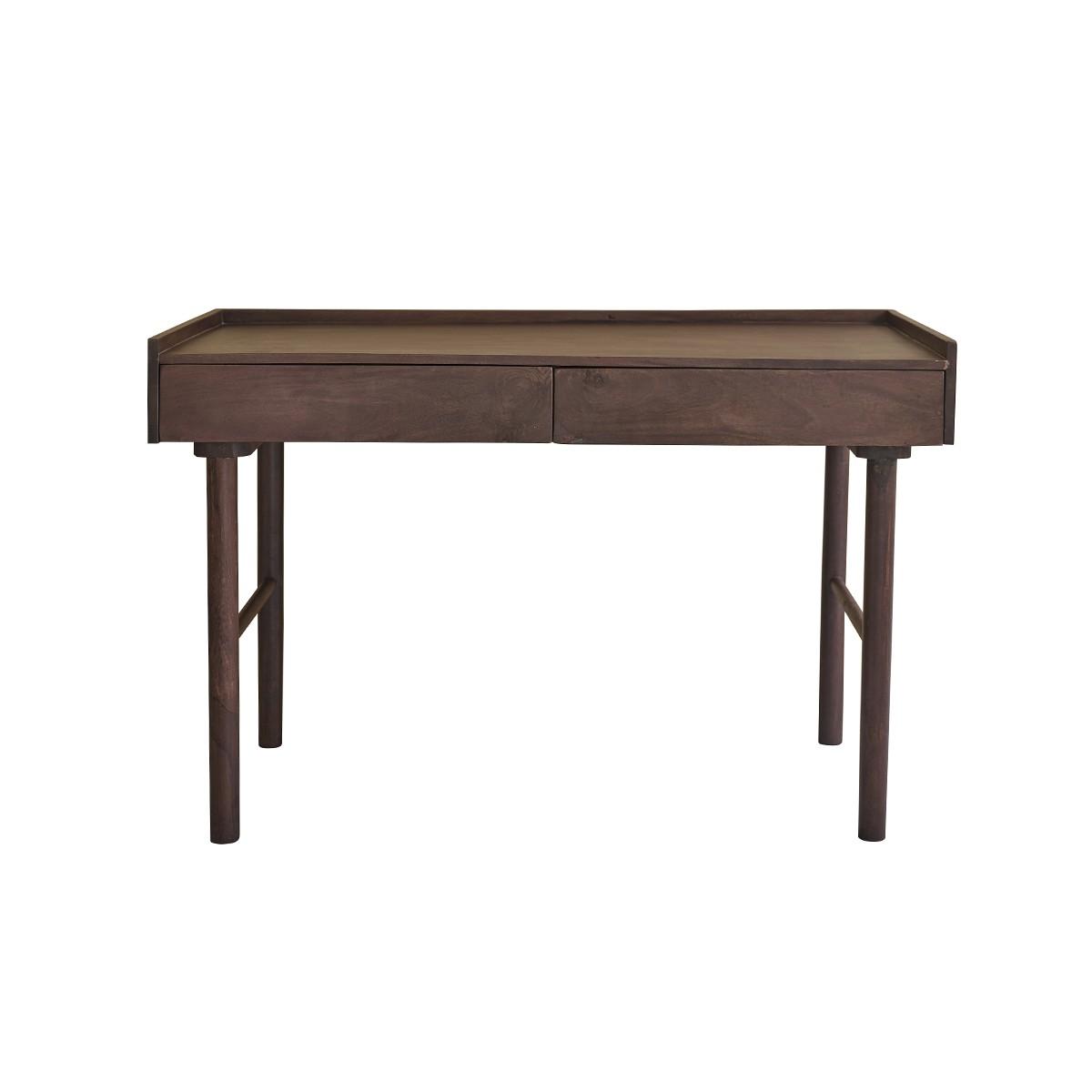 Bureau 2 tiroirs en bois de manguier
