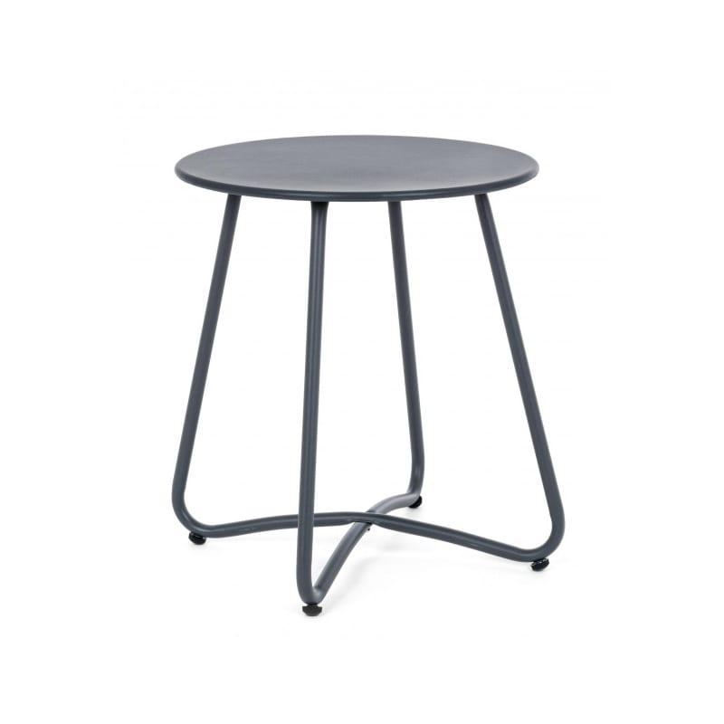 Table basse en acier gris anthracite diamètre 40 cm