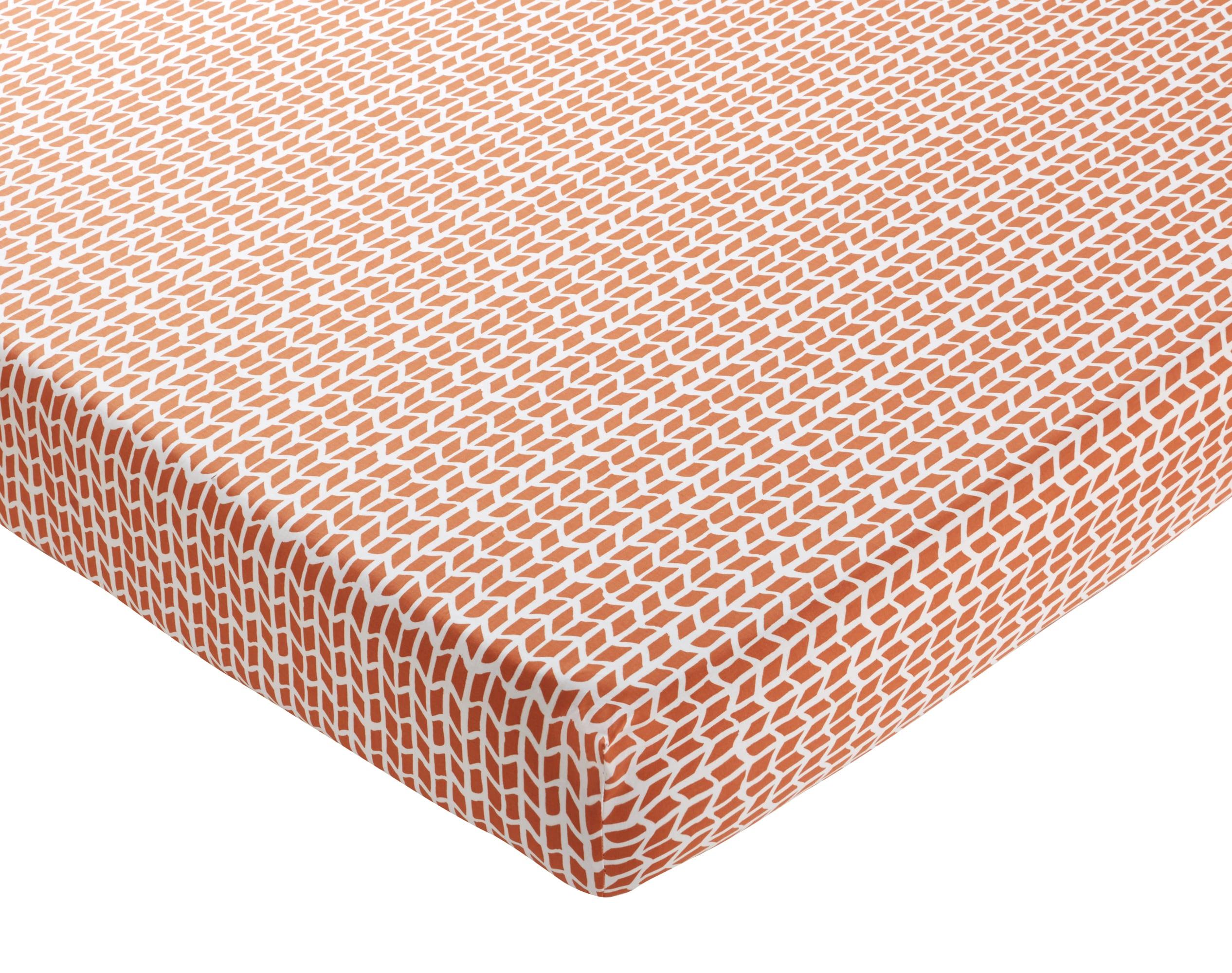 Drap-housse 140x190 ocre en coton