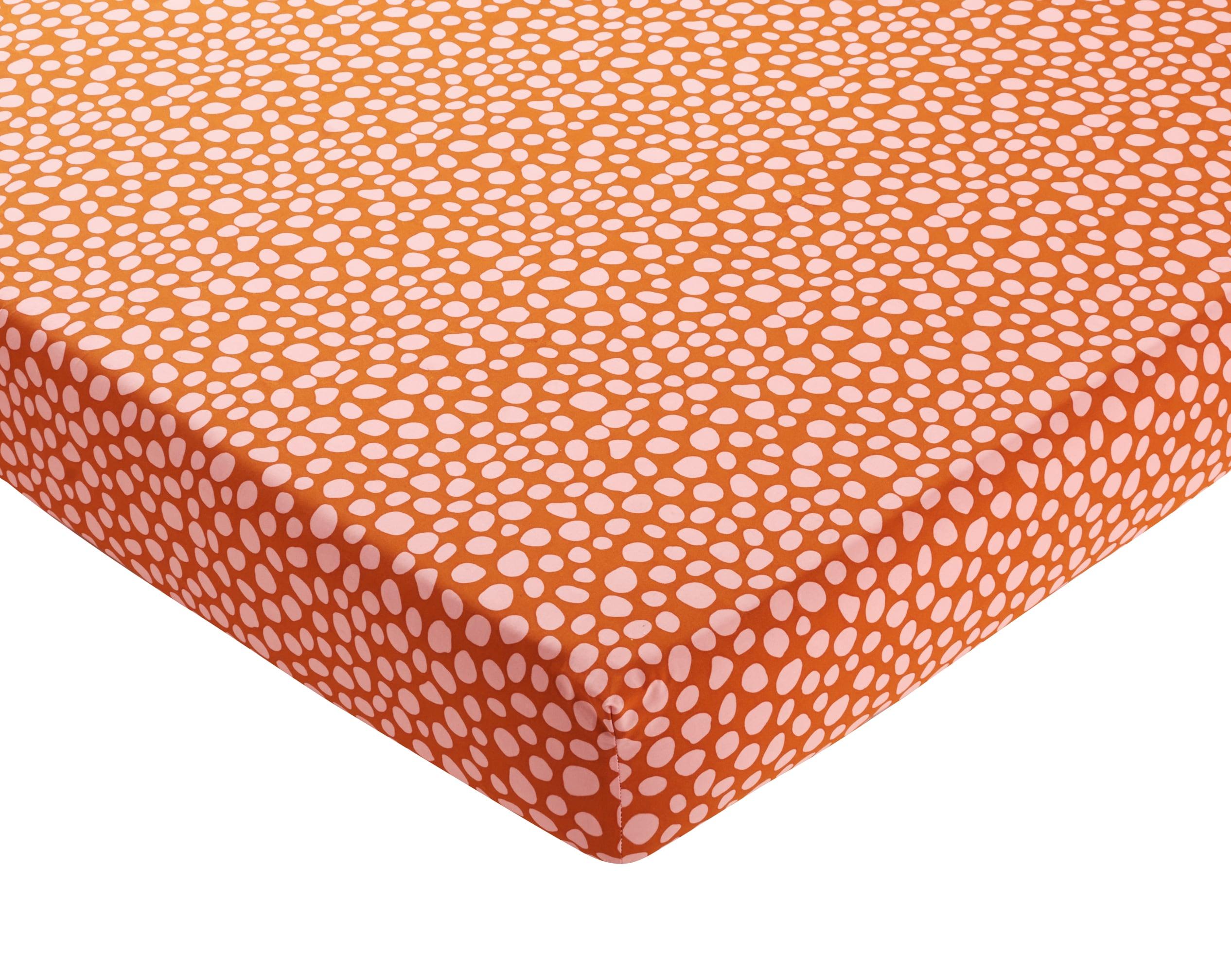 Drap-housse 140x190 multicolore en percale de coton