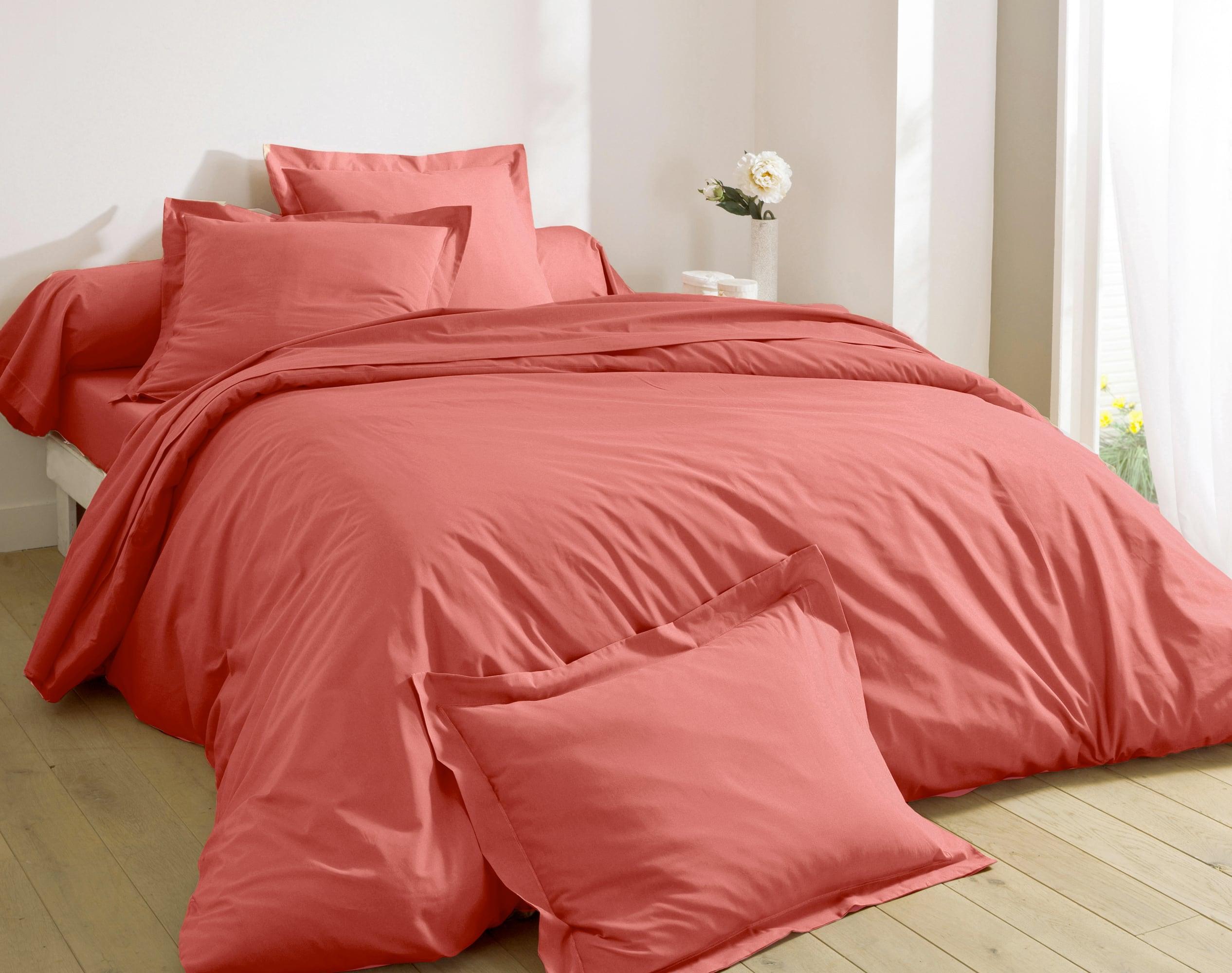 Housse de couette réversible 240x220 multicolore en percale de coton
