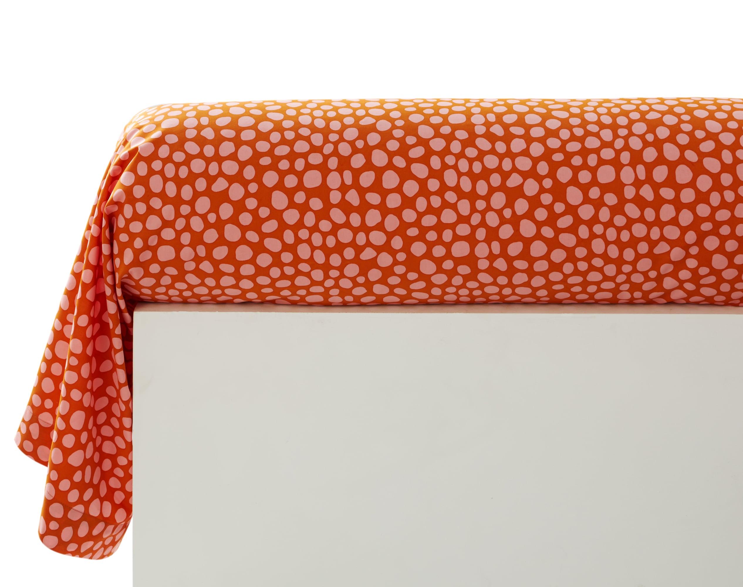 Taie d'oreiller 43x185 multicolore en percale de coton