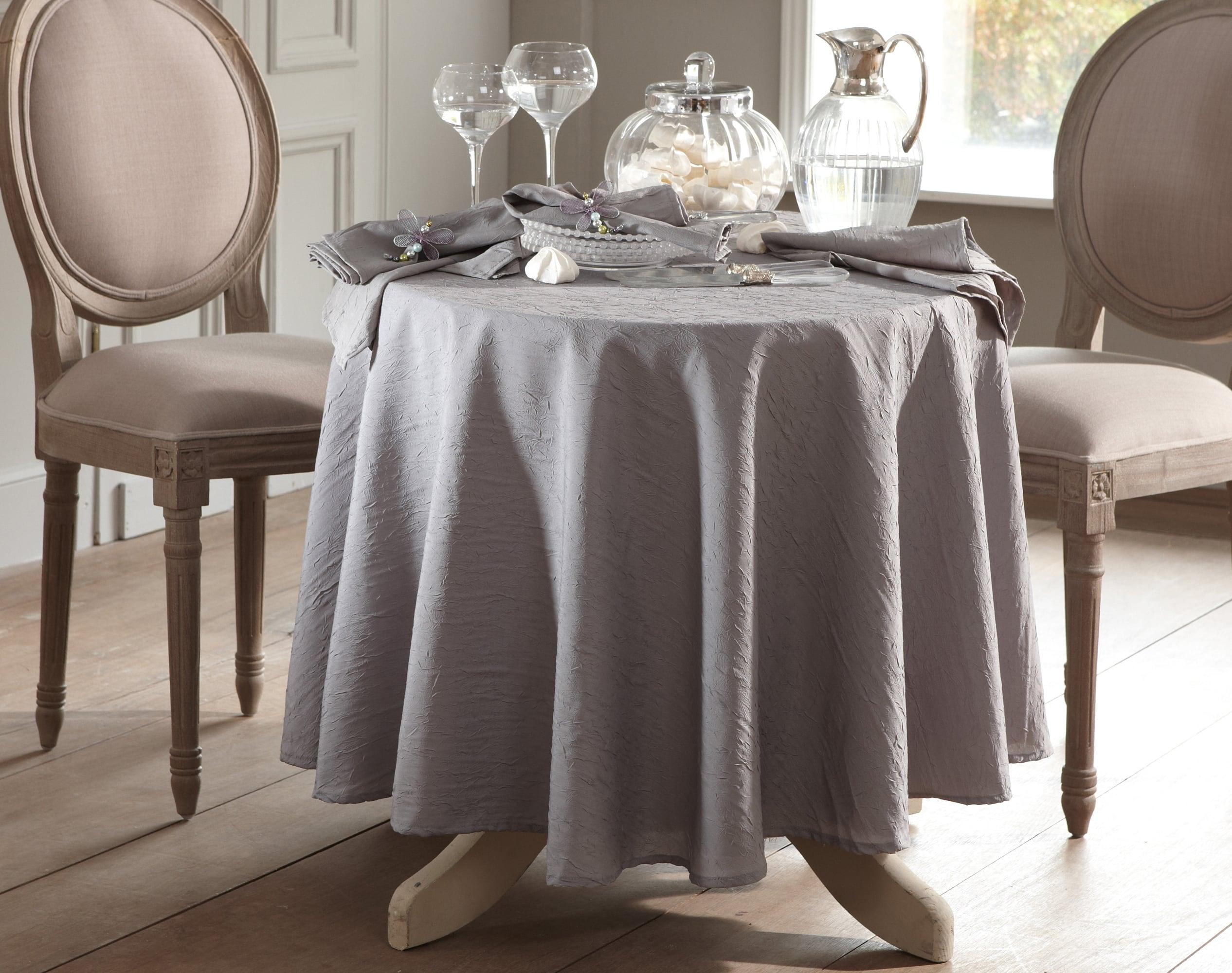 Nappe rectangulaire beige en polyester 150x200
