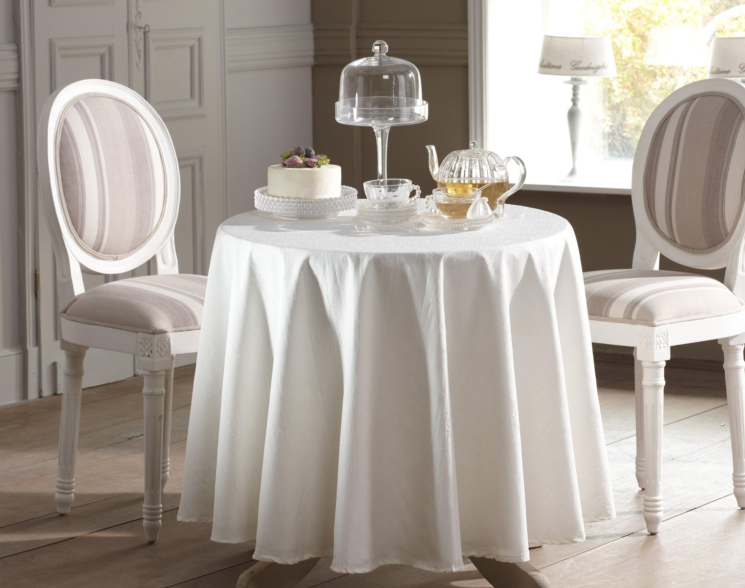 Nappe Ronde blanc en polyester 235x235