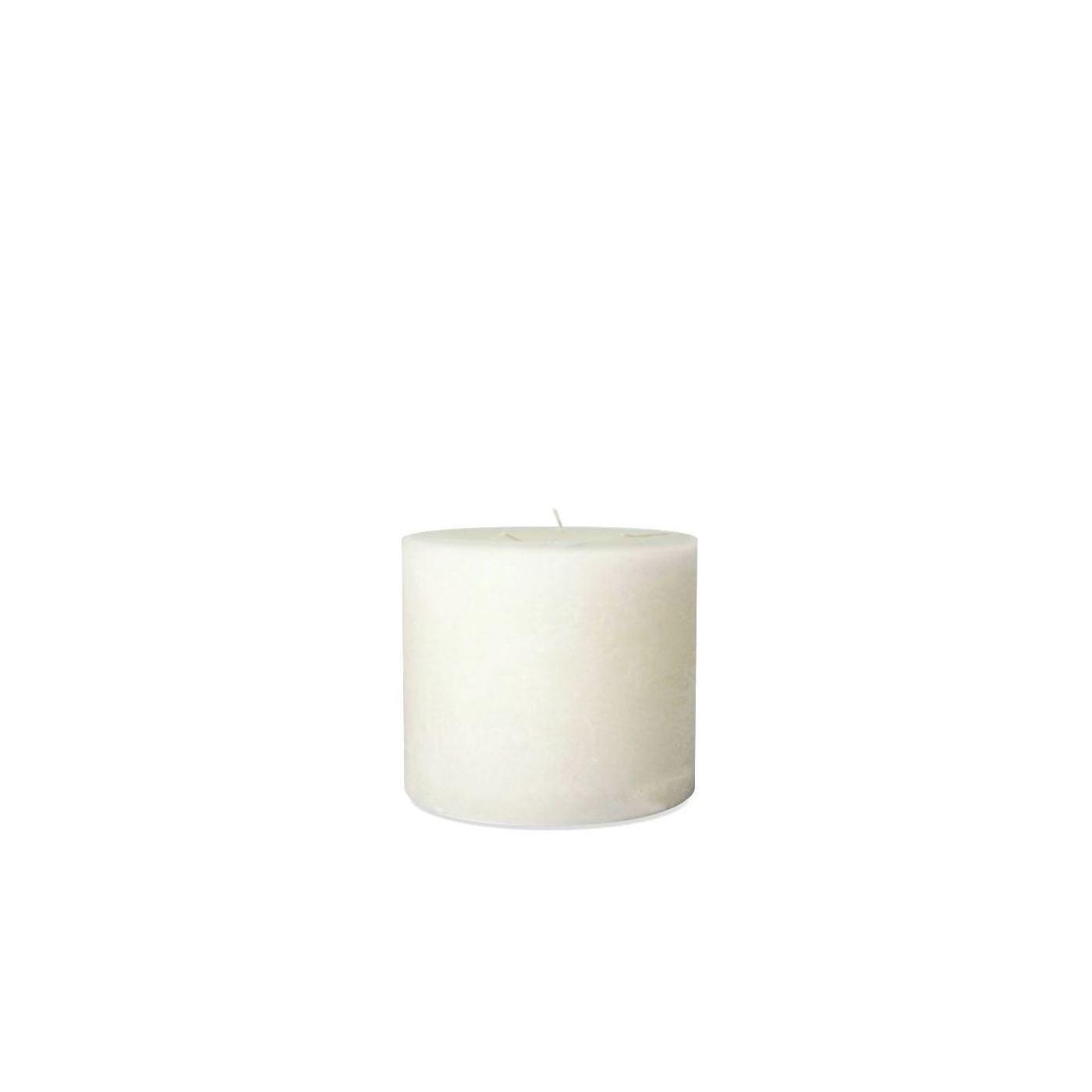 Bougie d'Intérieur Blanche 3 Mèches Diam 15 x 14 cm