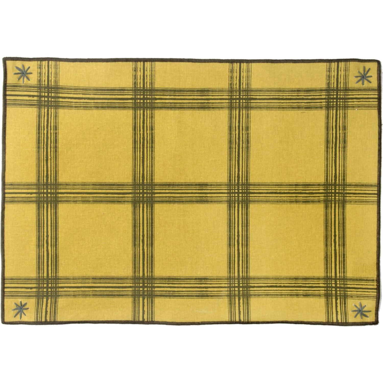 Set de table (set de 4) en coton 50x35 Jaune et Kaki