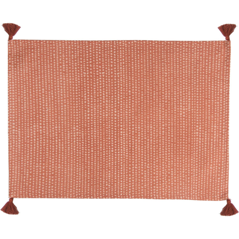 Set de table (set de 4) en coton 50x35 Terracotta