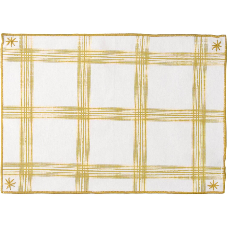 Set de table (set de 4) en coton 50x35 Jaune zest