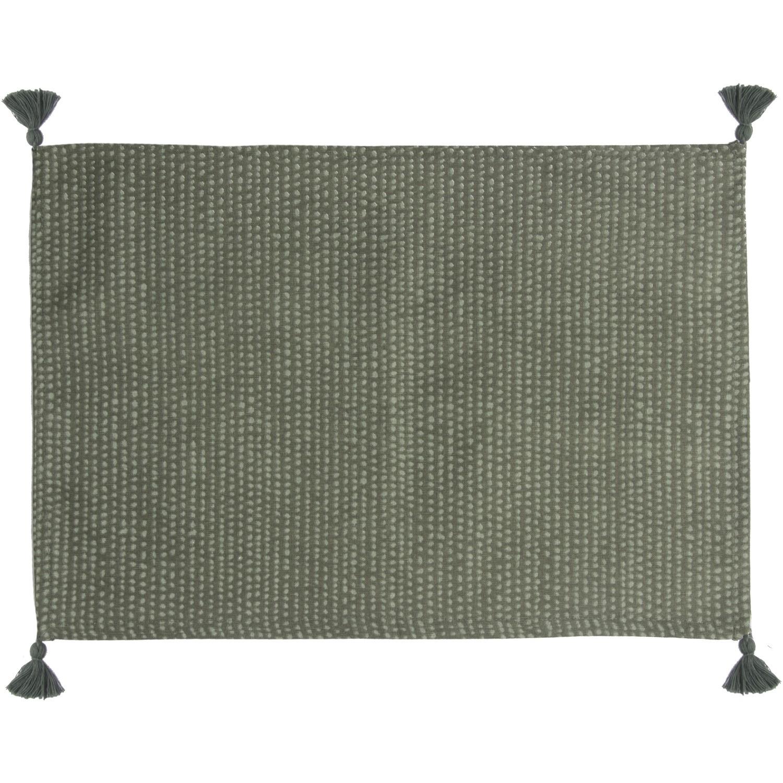 Set de table (set de 4) en coton 50x35 Vert lichen