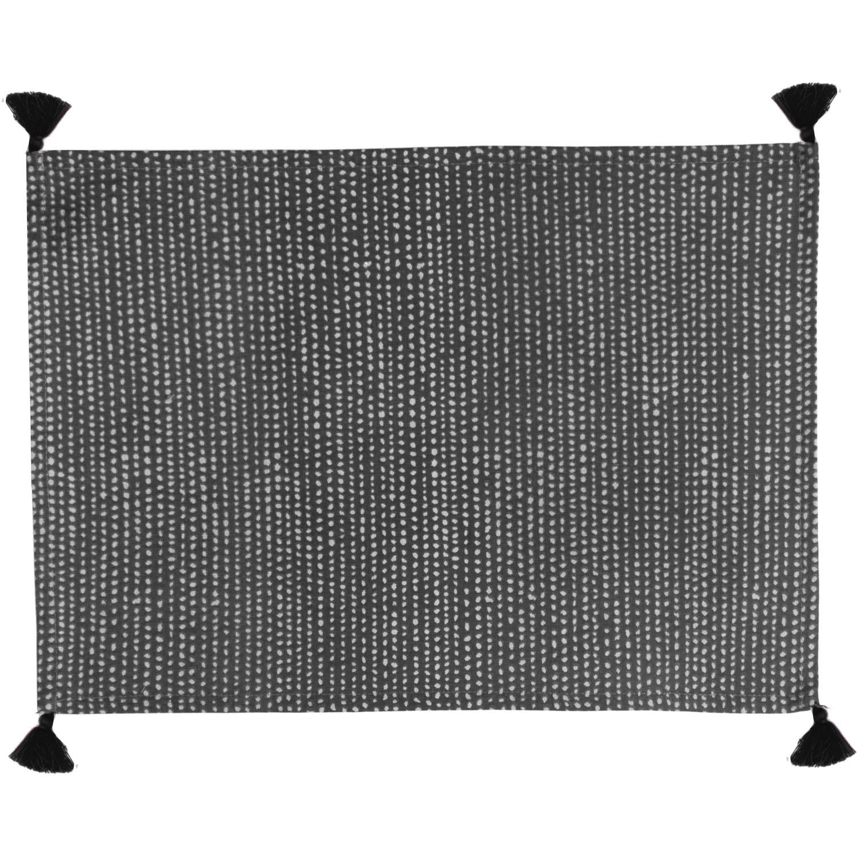 Set de table (set de 4) en coton 50x35 Noir