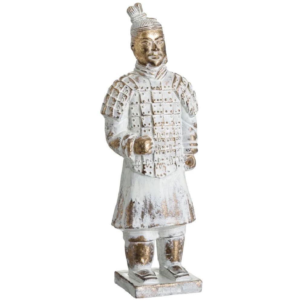 Statuette soldat en terre cuite de l'empereur H22cm