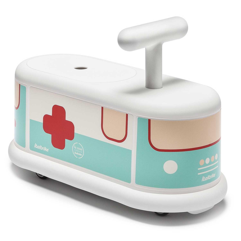 Porteur blanc ambulance pour bébé dès 1 an