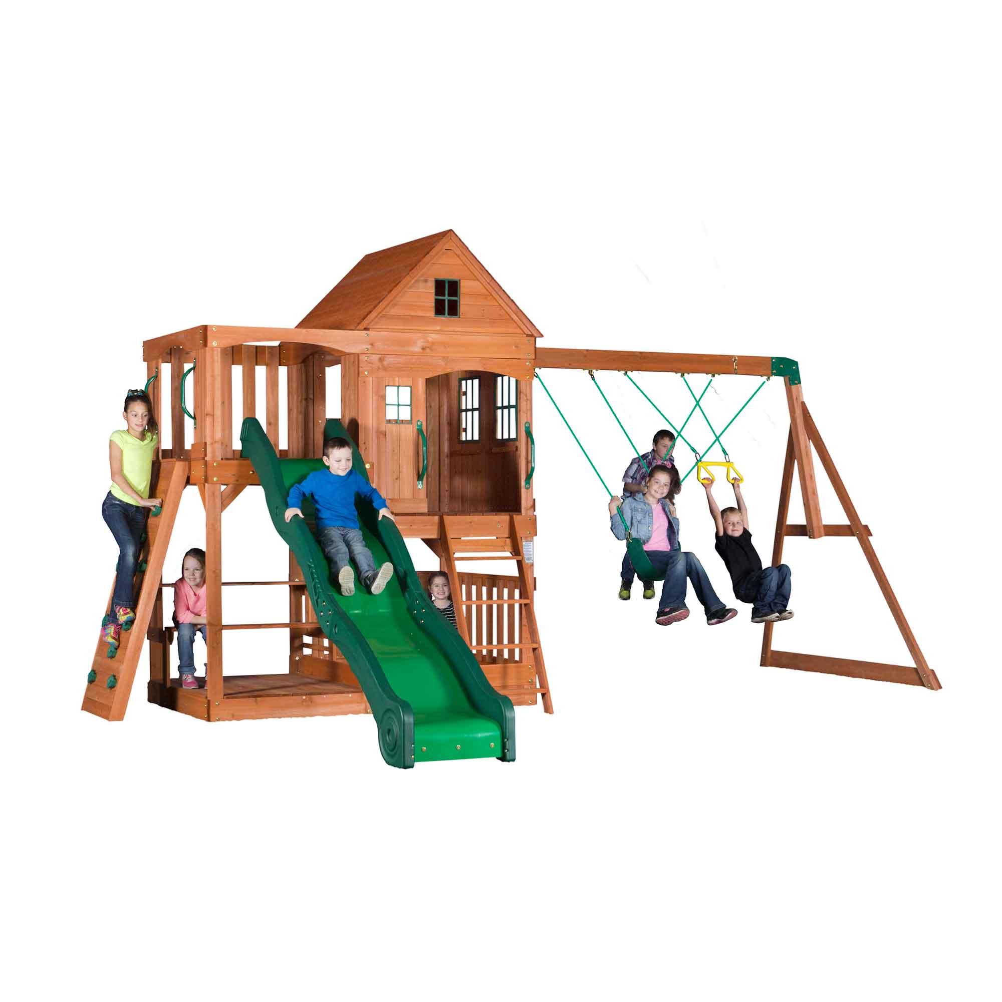 Aire de jeux en bois enfant