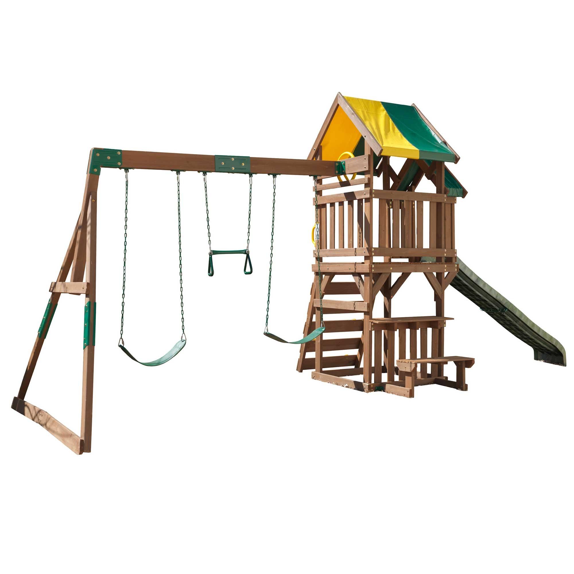 Aire de jeux en bois pour enfants