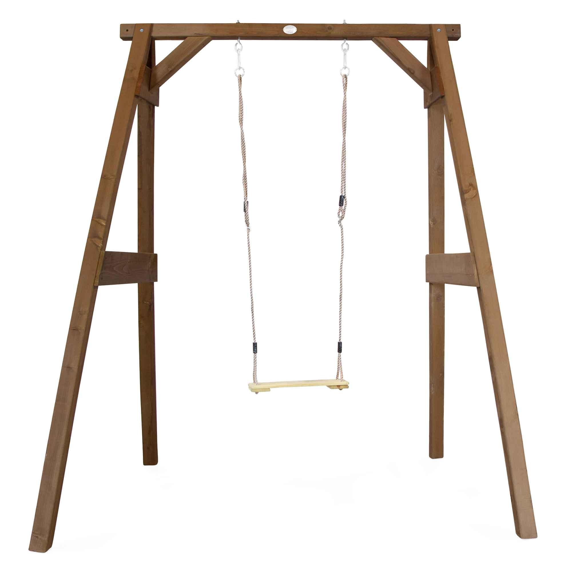 Portique 1 balançoire en bois marron