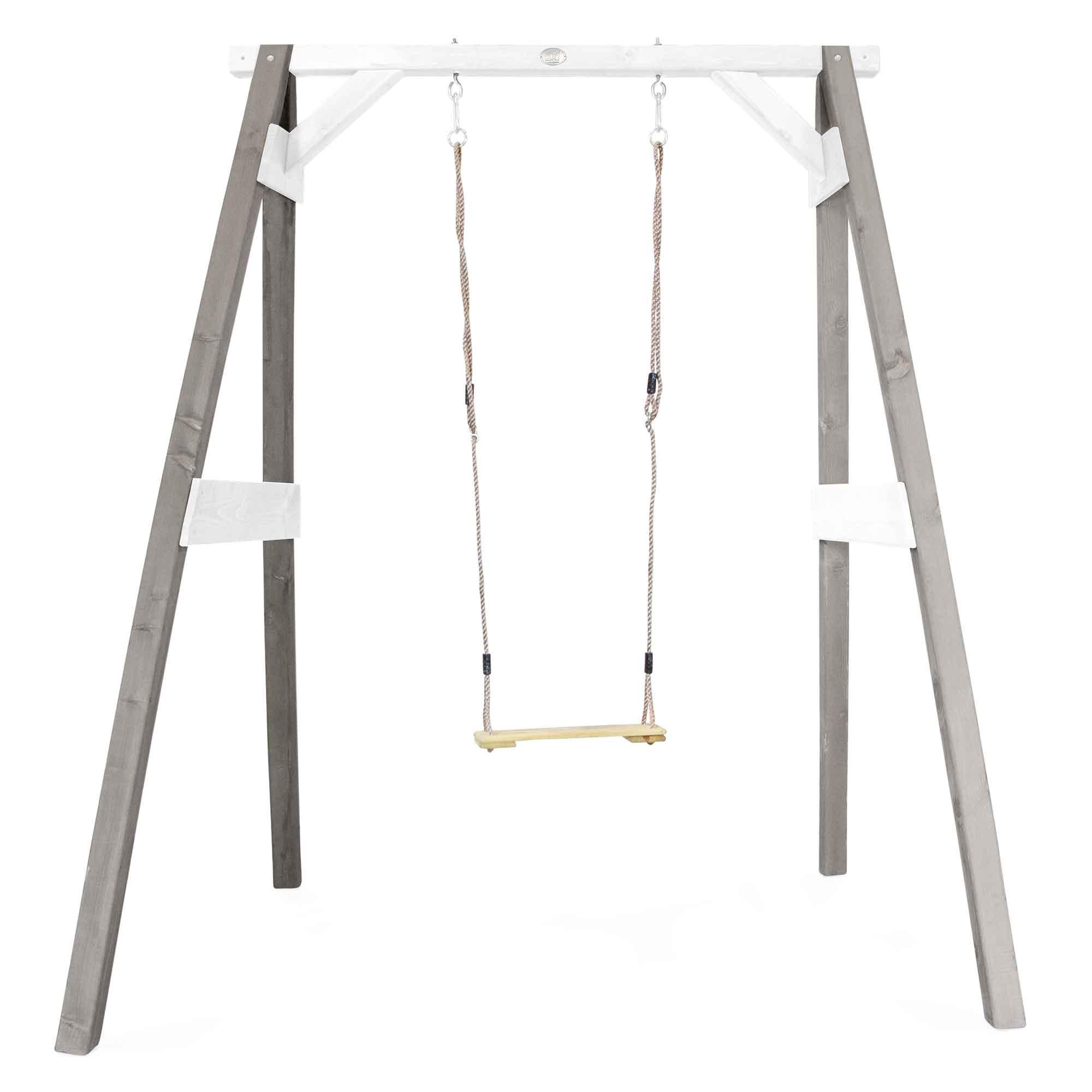 Portique 1 balançoire en bois gris et blanc