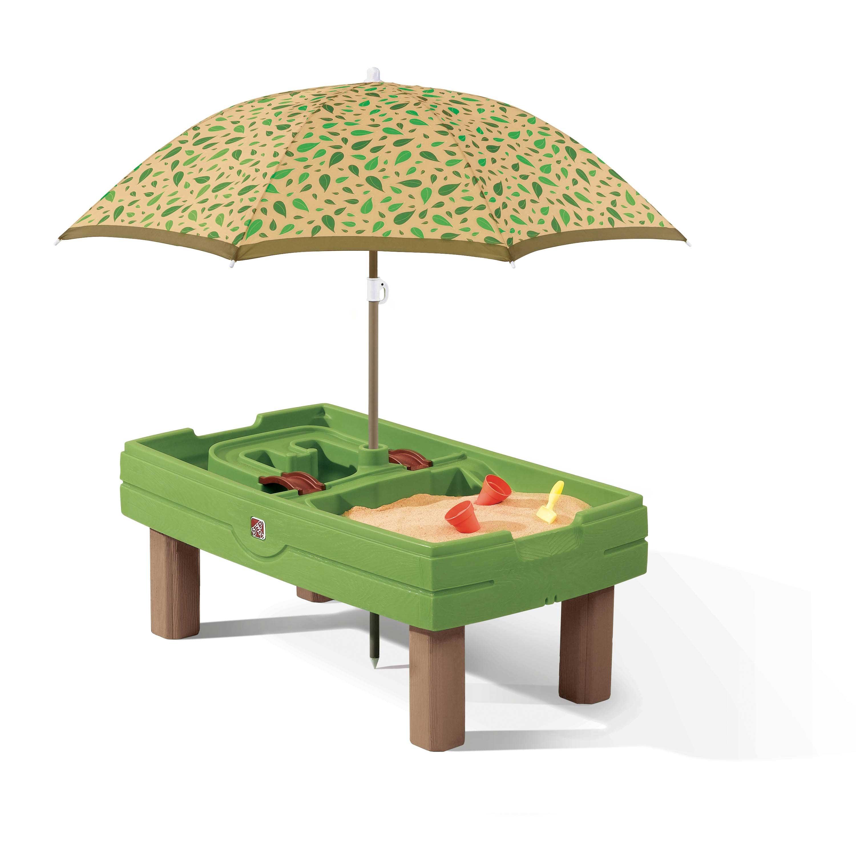 Centre d'activités sable et eau vert avec parasol