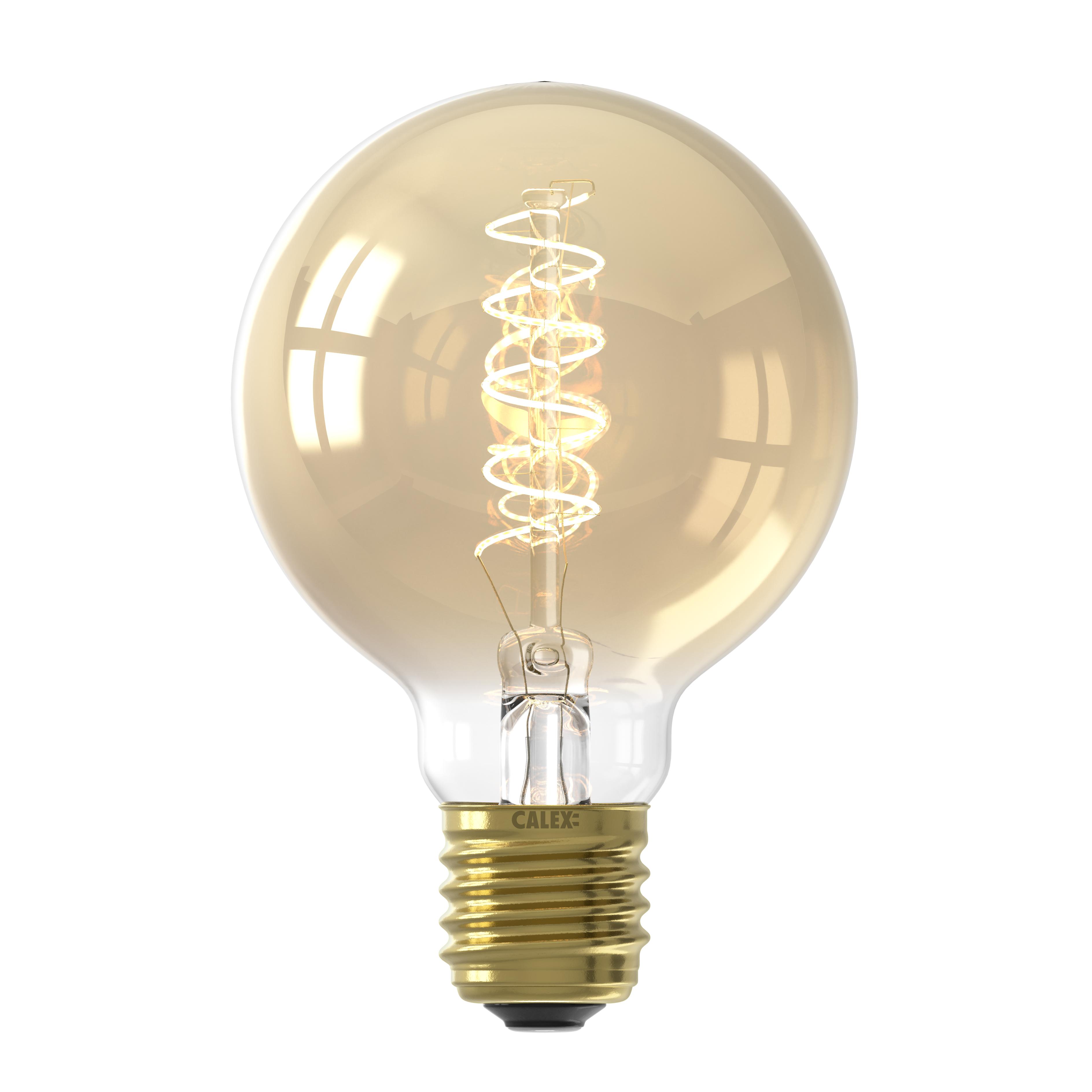 Ampoule filament décorative en verre ambre