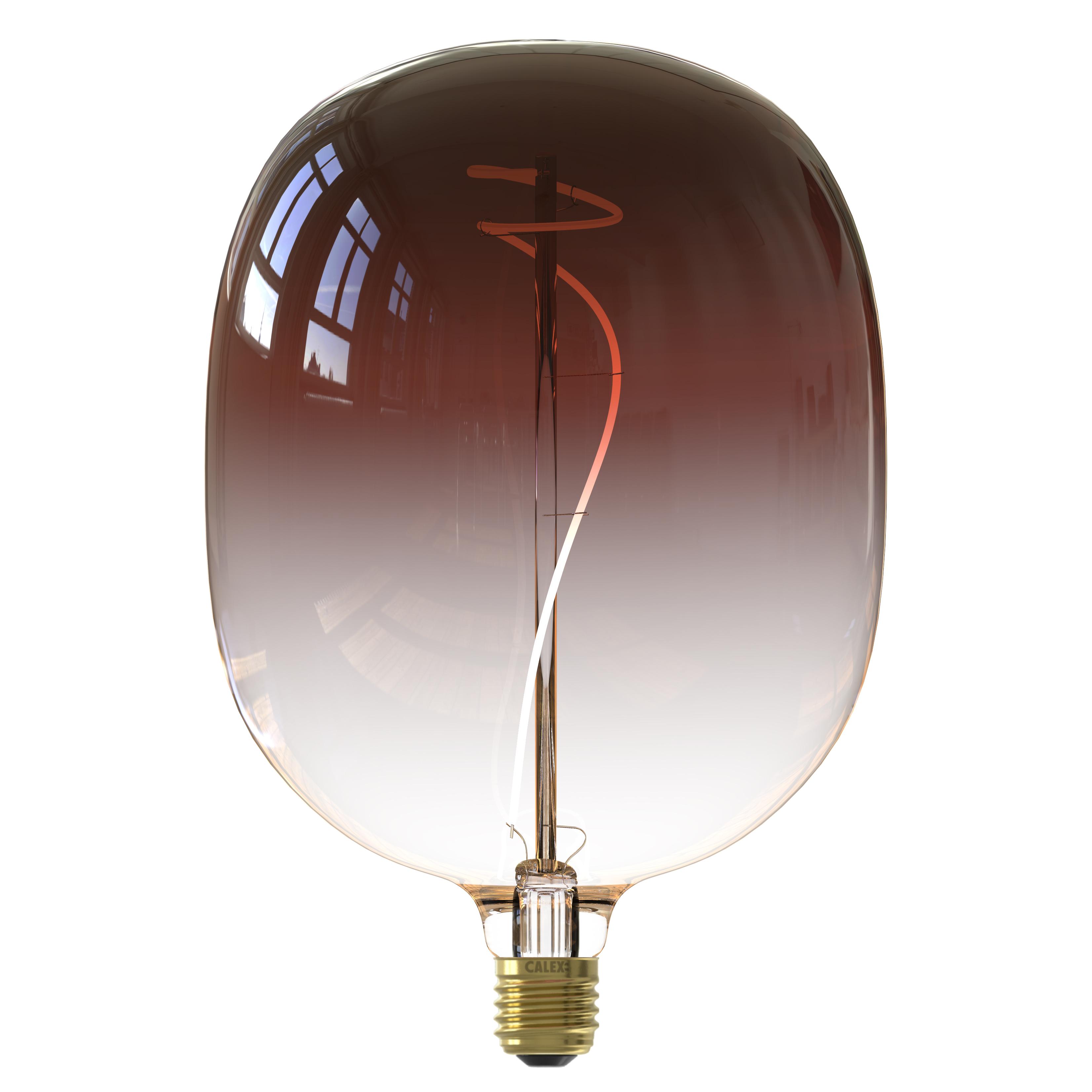 Ampoule filament décorative en verre marron