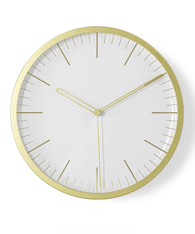 Horloge murale/à poser d22cm silencieuse doré