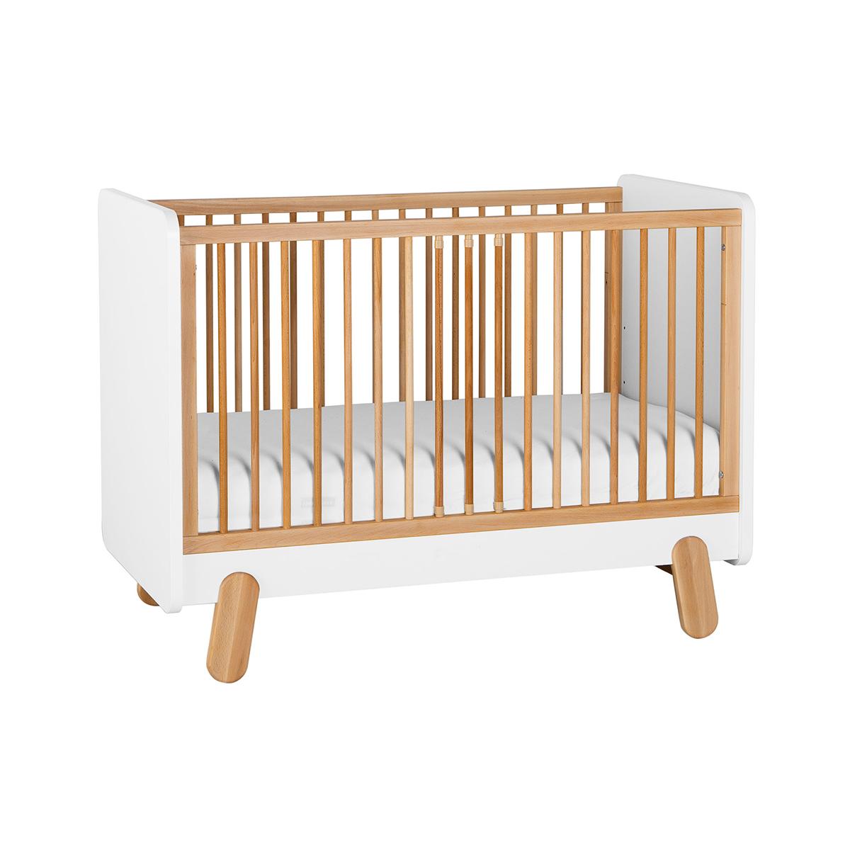 Lit bébé 60x120 blanc bois