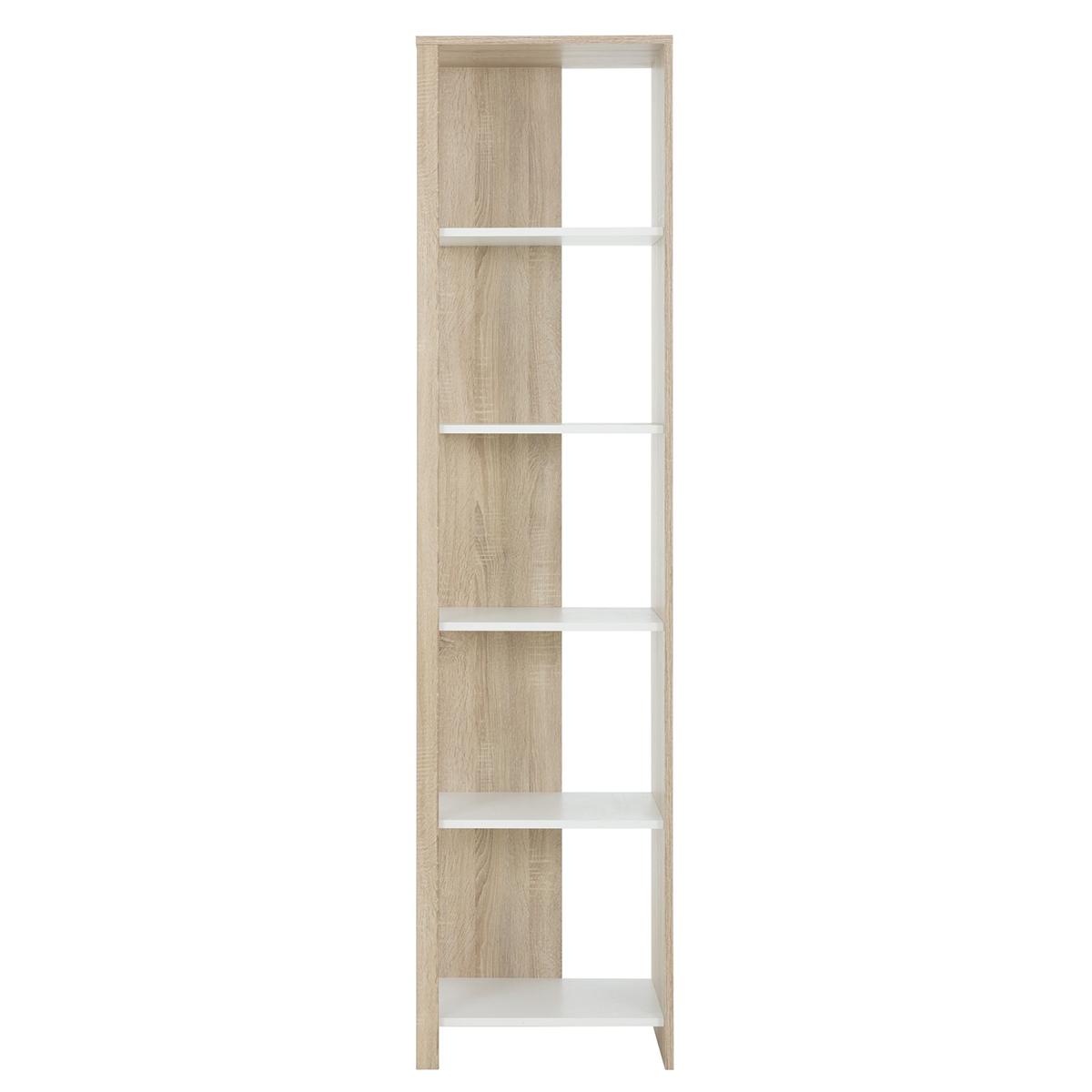 Bibliothèque colonne chêne blanc