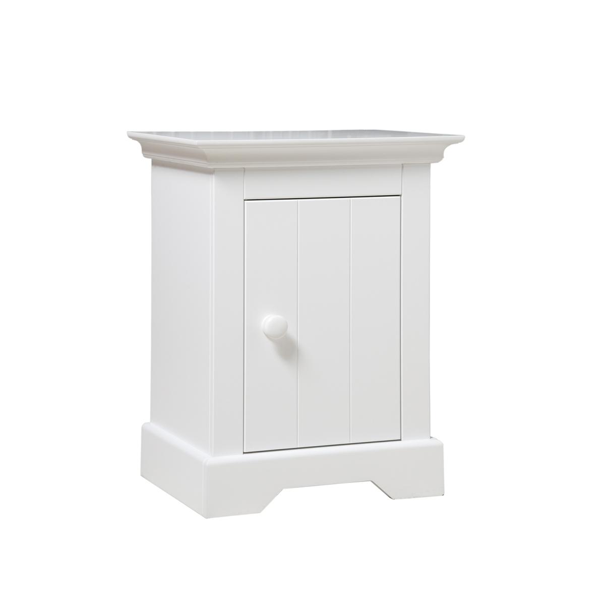 Chevet 1 porte blanc