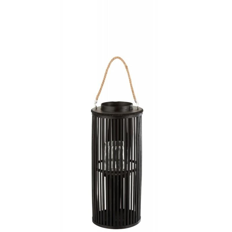 Lanterne bambou noir H60cm
