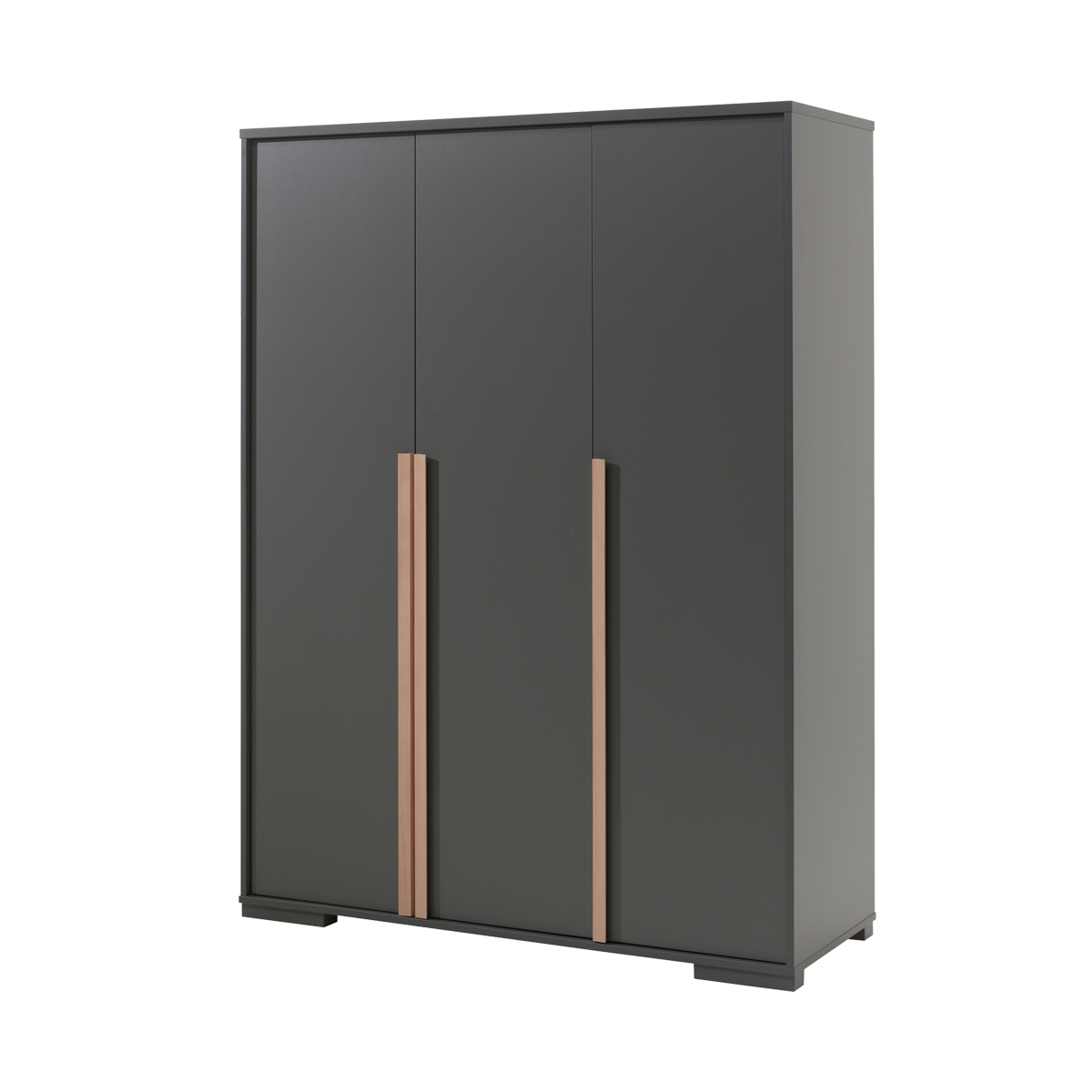 Armoire 3 portes anthracite