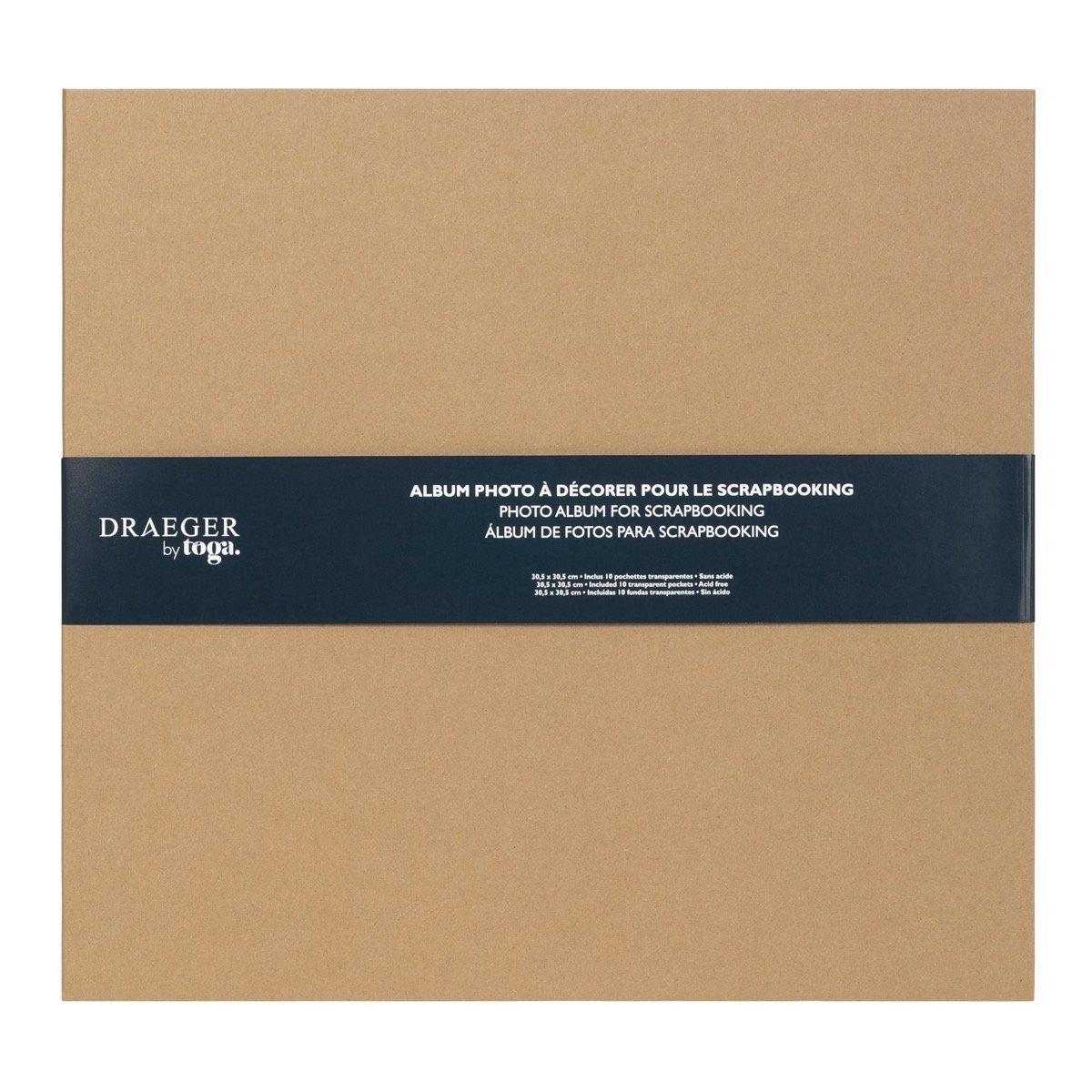 Album De Scrapbooking Brut À Décorer 30x30 Cm -