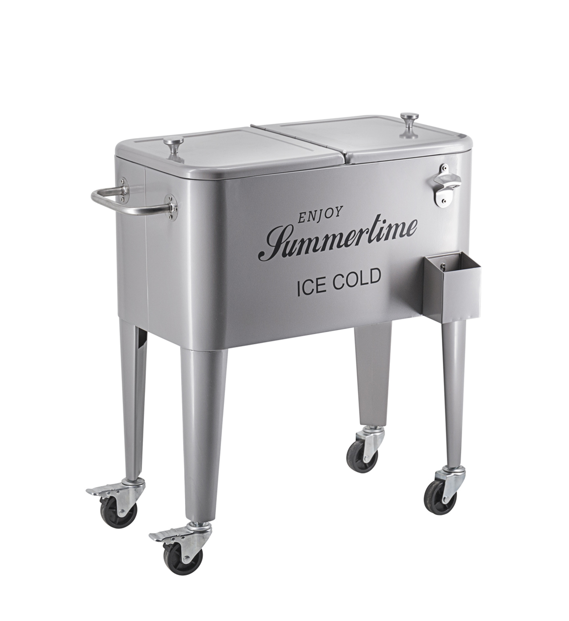 Desserte frigo en inox gris L73