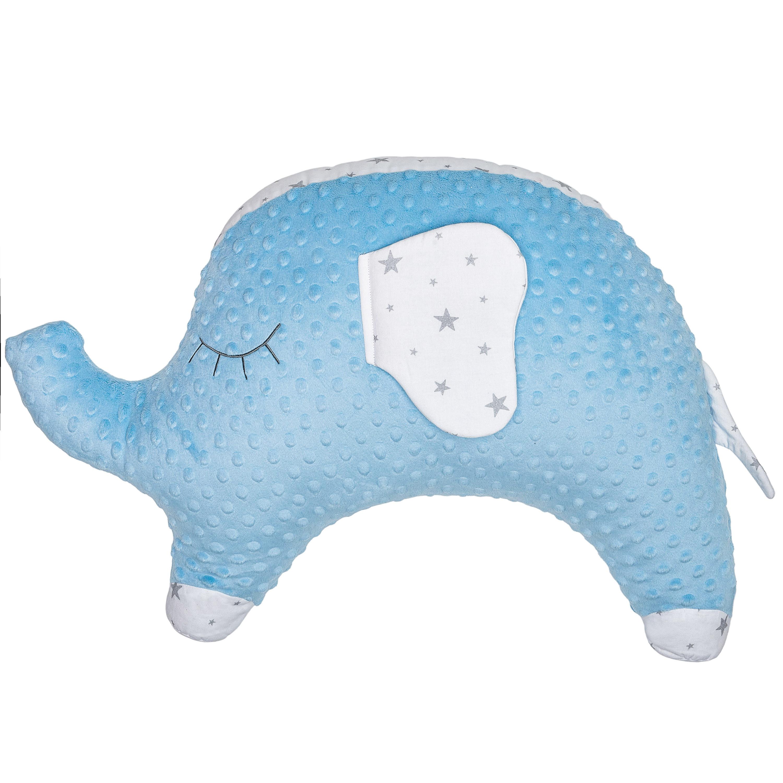 Coussin de maternité multi usage éléphant bleu