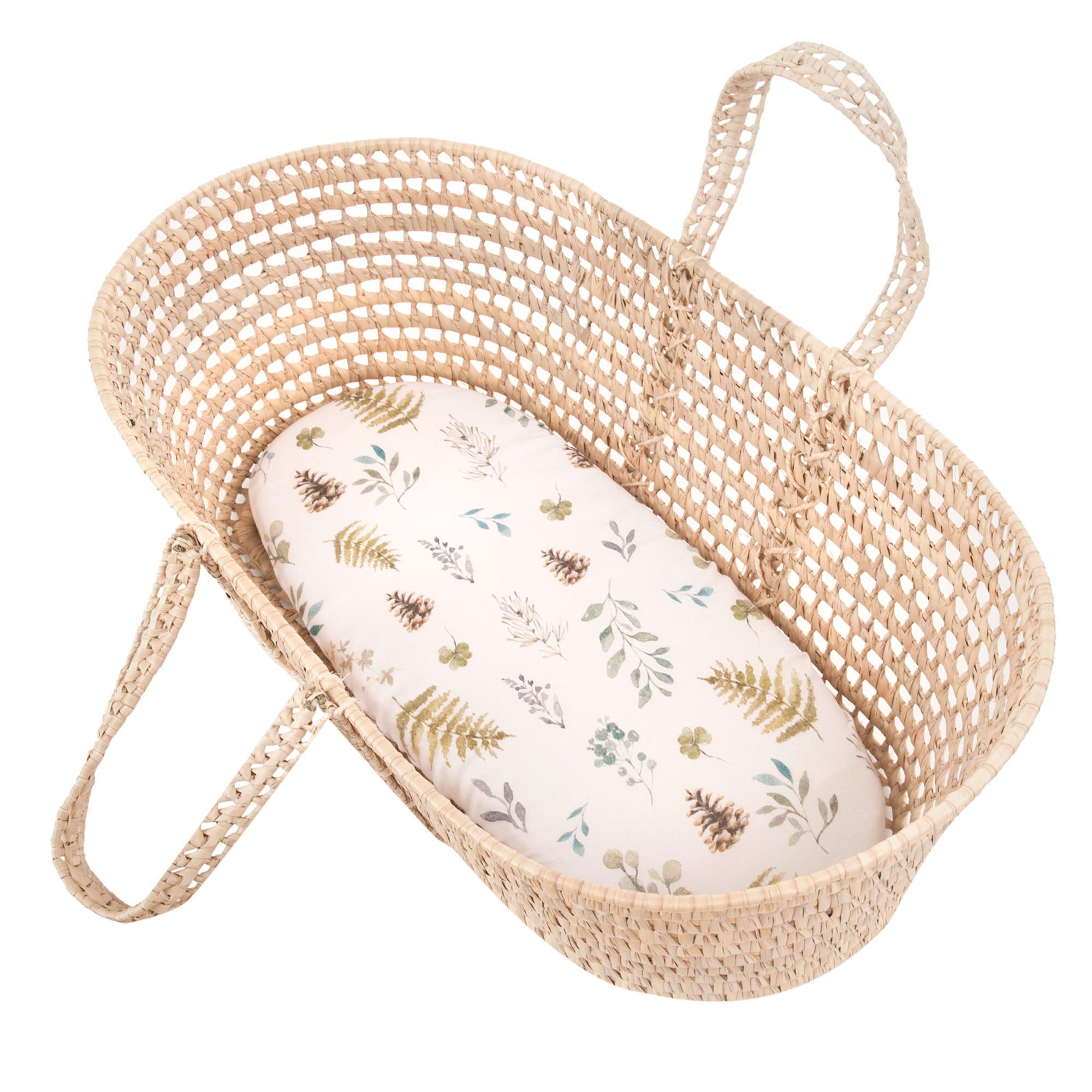 Drap housse couffin ovale en bambou multicolore bébé  Taille unique