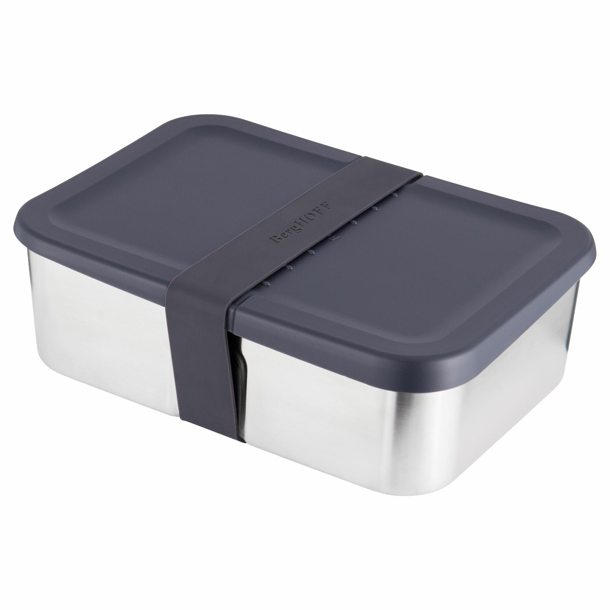 Boîte à déjeuner en acier avec couvercle