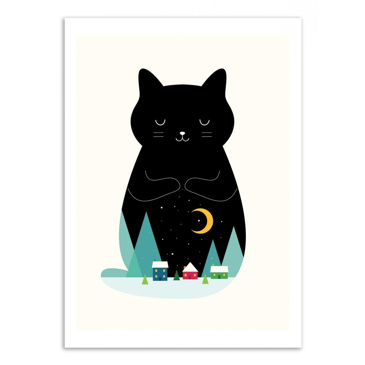 SILENT NIGHT -   Affiche d'art 50 x 70 cm