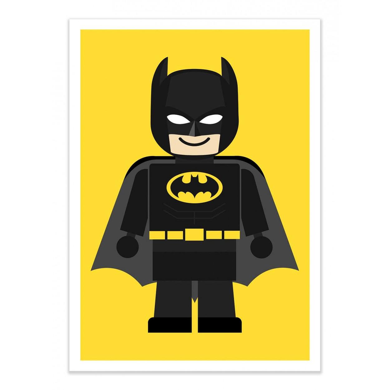 BATMAN TOY -  Affiche d'art 50 x 70 cm