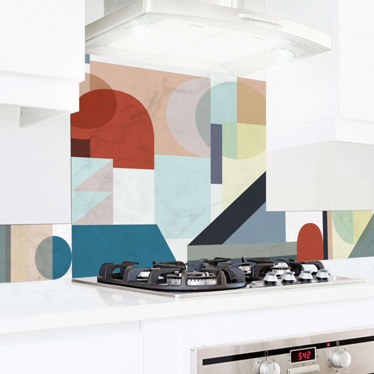 Crédence cuisine en alu lot de 2 bandeaux L100 x H20cm