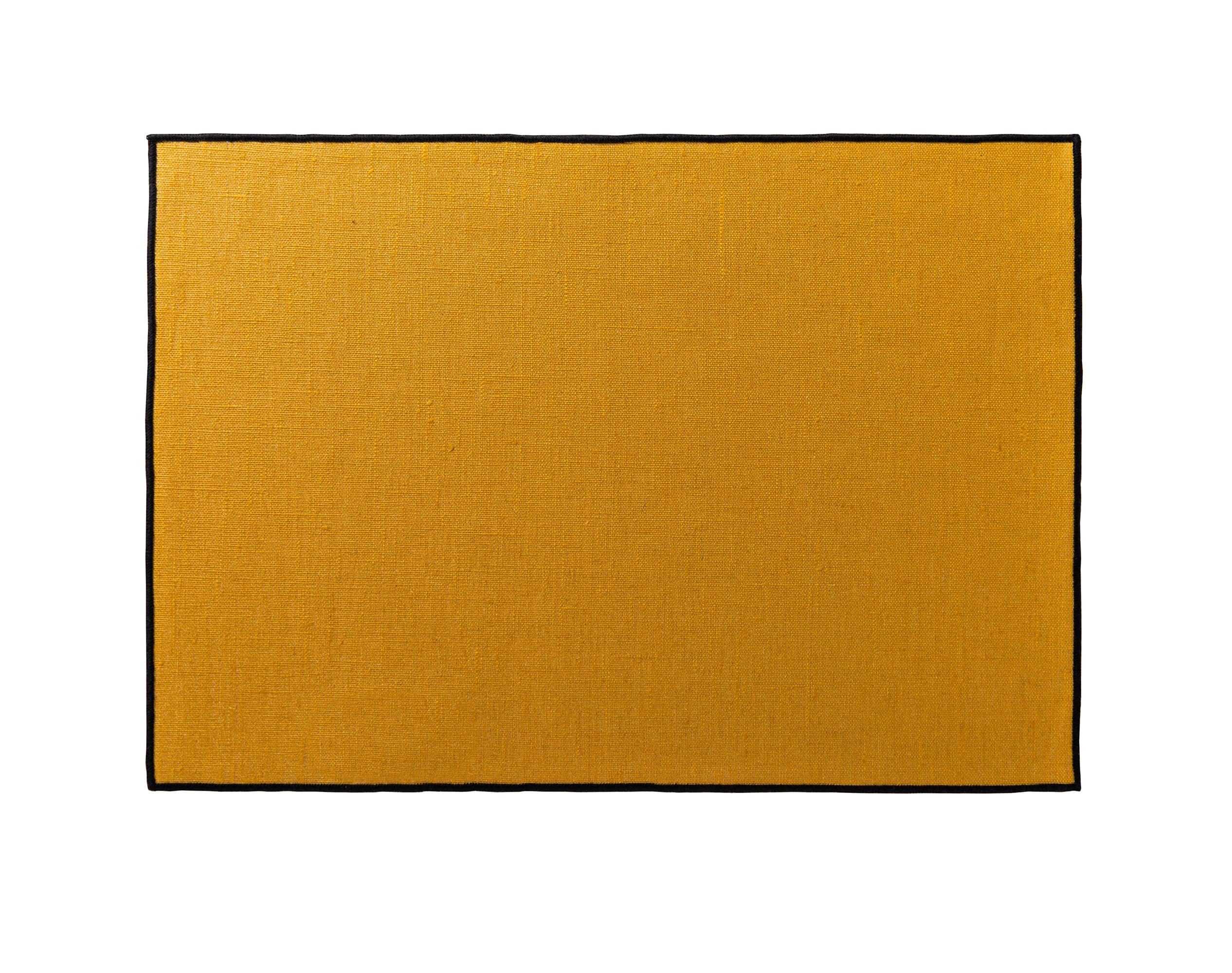 Lot de 4 sets de table jaune en lin 35x48
